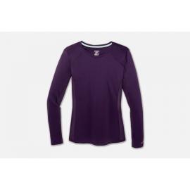 Camiseta running Brooks Stealth morado mujer