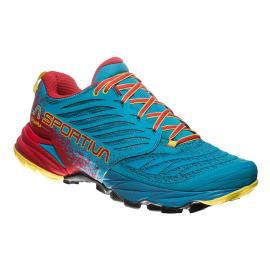 Zapatillas trail La Sportiva Akasha azul/rojo hombre
