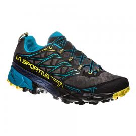 Zapatillas trail running La Sportiva Akyra gris/azul hombre