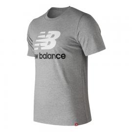 Camiseta New Balance Essential ST Logo MT91546 gris hombre