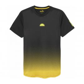 Camiseta tenis/pádel Ellesse Lorenzo negro/amarillo hombre