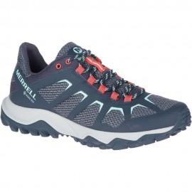 Zapatillas trekking Merrell Fiery GTX azul mujer