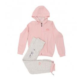 Chándal Kappa Quibily rosa/blanco niña