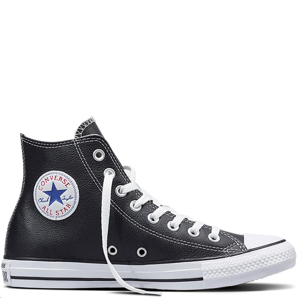 zapatillas converse mujer piel negras