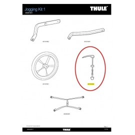 Cierre rapido Thule Chariot Jogging Kit 40105364