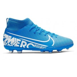 Botas fútbol Nike Mercuria Superfly 7 Club FG/MG azul junior