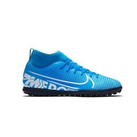 Botas fútbol Nike Mercurial Superfly 7 Club TF azul junior