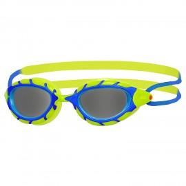 Gafas natación Zoogs Predator Jr  azul/lima