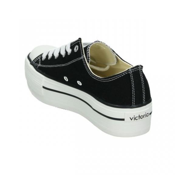 Zapatillas lona Victoria Plataforma 1061100 negro mujer