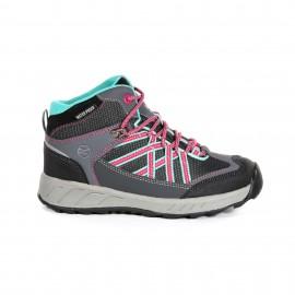 Botas trekking Regatta Samaris Mid gris/negro/rosa jurior