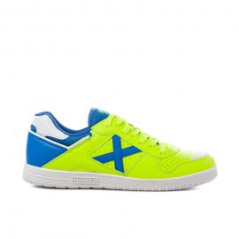 Zapatillas fútbol Munich Continental V2 00 fluor/azul hombre