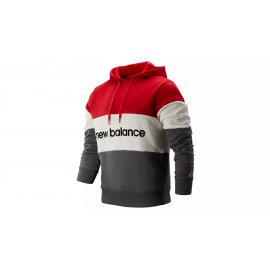Sudadera New Balance MT93545 Stadium Hoodie rojo/blanco homb
