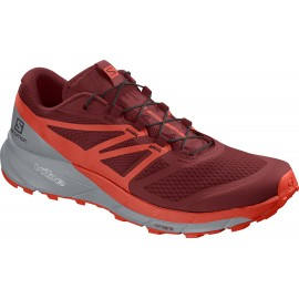 Zapatillas trail running Salomon Sense Ride 2 rojo hombre