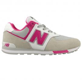 Zapatillas New Balance GC574FNG blanco/rosa junior