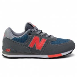 Zapatillas New Balance GC574NFO gris/naranja junior