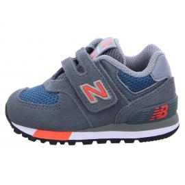 Zapatillas New Balance IV574NFO gris/naranja bebé