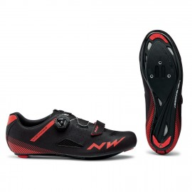 Zapatillas Northwave Core Plus negro-rojo road