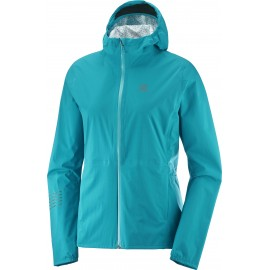Chaqueta trail running Salomon Lightning Wp W azul mujer
