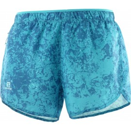 Pantalon corto trail running Salomon Agile azul mujer