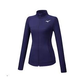 Sudadera running Mizuno Training Jacket morada  mujer