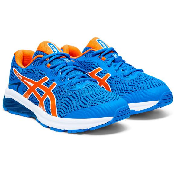 Zapatillas running Asics GT-1000 8 GS azul/naranja niño