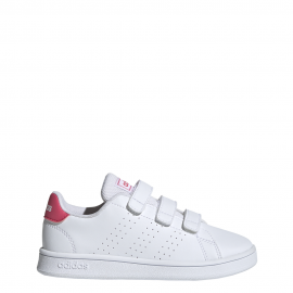 Zapatillas adidas Advantage C blanco/rosa niña