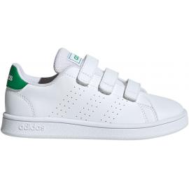 Zapatillas adidas Advantage C blanco/verde niño