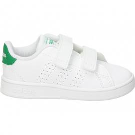 Zapatillas adidas Advantage I blanco/verde bebé
