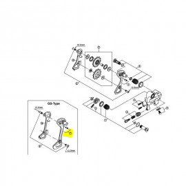 Portapoleas exterior cambio RD-6700 GS 10 Vel 5X998110