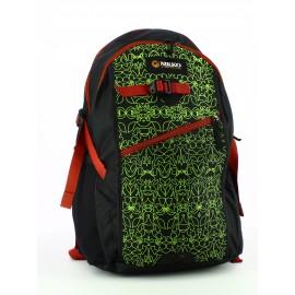 Mochila Nikko Just Go negro/verde