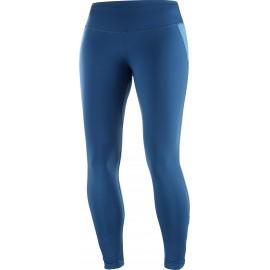 Malla larga trail running Salomon Agile Warm azul mujer