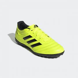 Botas fútbol adidas Copa 19.4 TF amarillo fluor hombre