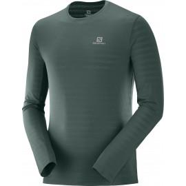 Camiseta trail running Salomon Xa Ls Tee verde hombre