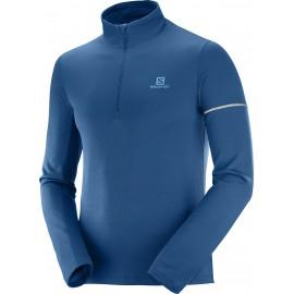 Camiseta trail  Salomon Agile HZ Mid azul marino hombre