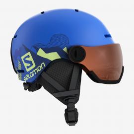 Casco esquí Salomon Grom Visor azul  junior