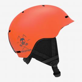 Casco esquí Salomon Grom naranja junior