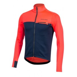 Maillot manga larga Pearl Izumi Interval Th rojo-navy hombre