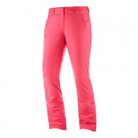 Pantalón esqui Salomon Stormseason regular rosa mujer