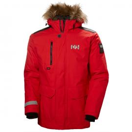 Abrigo Helly Hansen Svalbard Parka rojo hombre