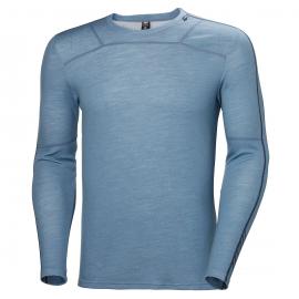 Camiseta termica Helly Hansen Lifa Merino azul claro hombre