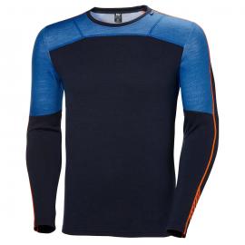 Camiseta termica Helly Hansen Lifa Merino azul hombre