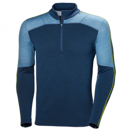 Camiseta térmica Helly Hansen Lifa Merino 1/2 Zip azul hombr
