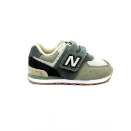 Zapatillas New Balance IV574MLD kaki bebé