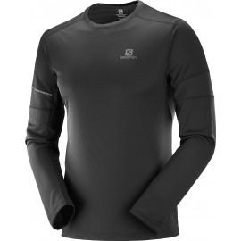 Camiseta trail  Running Salomon Agile Ls Tee negro hombre