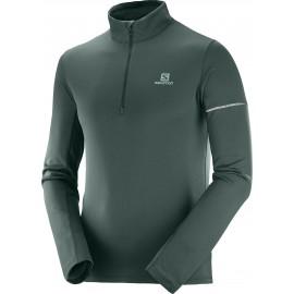 Camiseta trail  Salomon Agile HZ Mid verde hombre