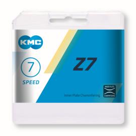 Cadena Kmc Z7 gris-marron 114 pasos 7 velocidades
