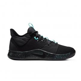 Zapatillas baloncesto Nike PG3 negro/azul hombre