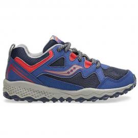 Zapatillas trail Saucony S-Peregrin Shield 2 azul/rojo niño