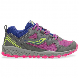 Zapatillas trail Saucony S-Peregrin Shield 2 gris/rosa niña