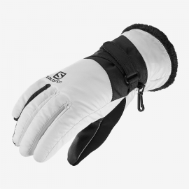 Guantes esquí Salomon Force Dry W  blanco negro mujer